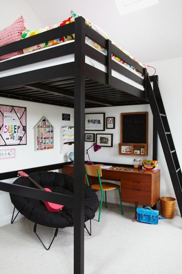 20 awesome loft beds for small rooms house design and decor Black bunk beds