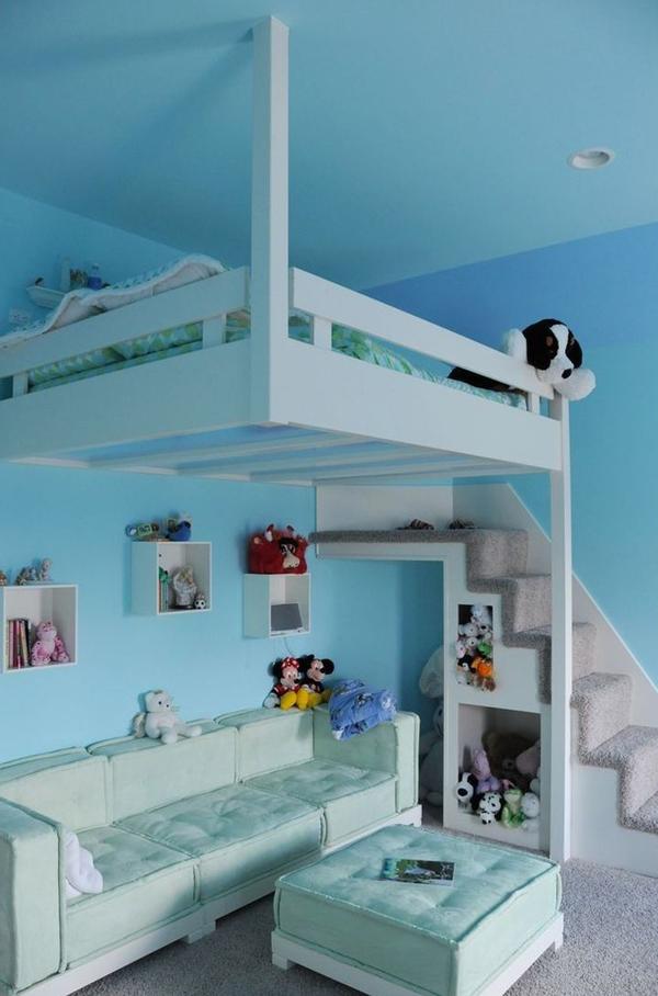 Do It Yourself Home Design: Blue-hanging-loft-bed-for-kids