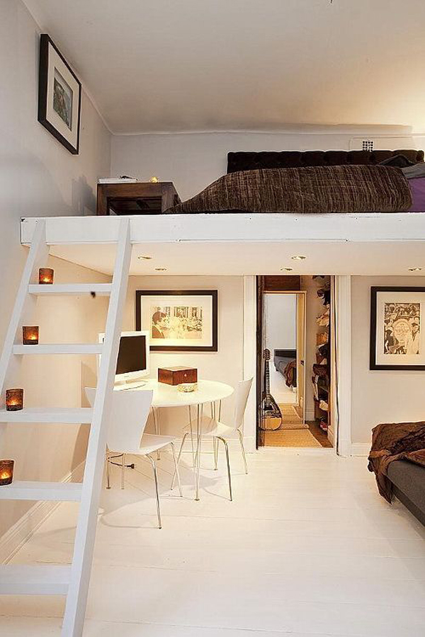 20 awesome loft beds for small rooms house design and decor. Black Bedroom Furniture Sets. Home Design Ideas