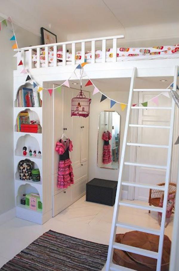 kids loft bed decorations