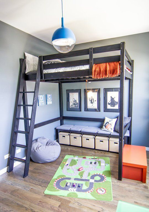 20 awesome loft beds for small rooms house design and decor - Ikea bunk bed room ideas ...