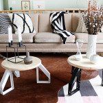 DIY Round Coffee Tables with Scandinavian Inspired