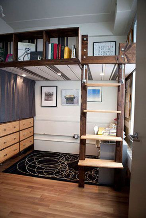 20 Awesome Loft Beds for Small Rooms | House Design And Decor on Girl:u7_Sz_Dbse0= Small Bedroom Ideas  id=66350
