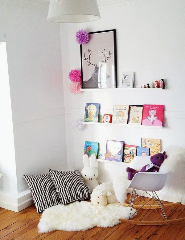 20 creative and cozy reading corner for kids house - Deco chambre bebe fille ikea ...