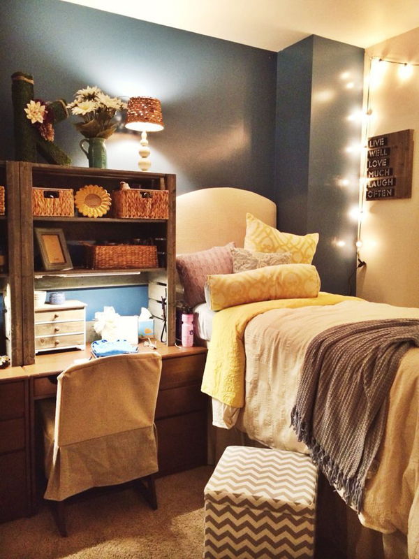 15 lovely college dorm room designs house design and decor Bedroom furniture for college students
