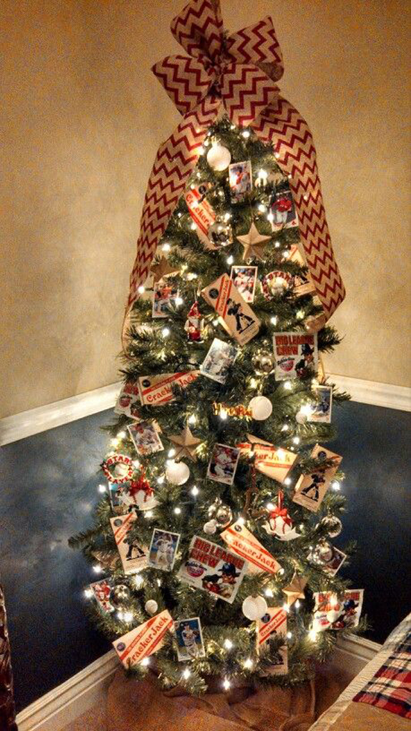 Cool Baseball Christmas Tree For Little Boys