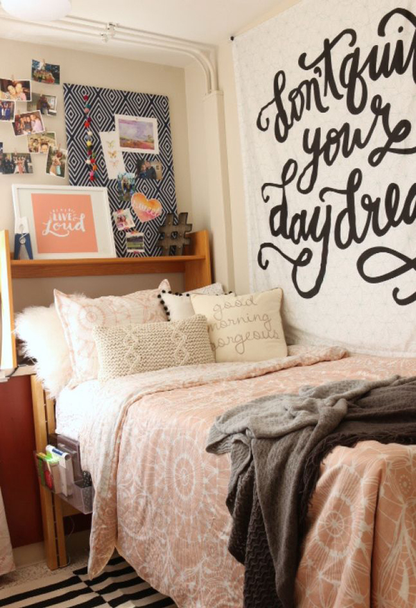 15 Lovely College Dorm Room Designs