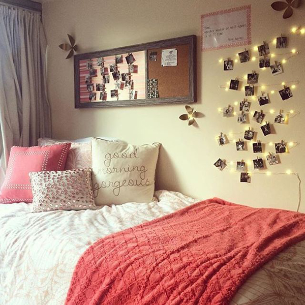 15 lovely college dorm room designs house design and decor - Dorm room bedding ideas ...