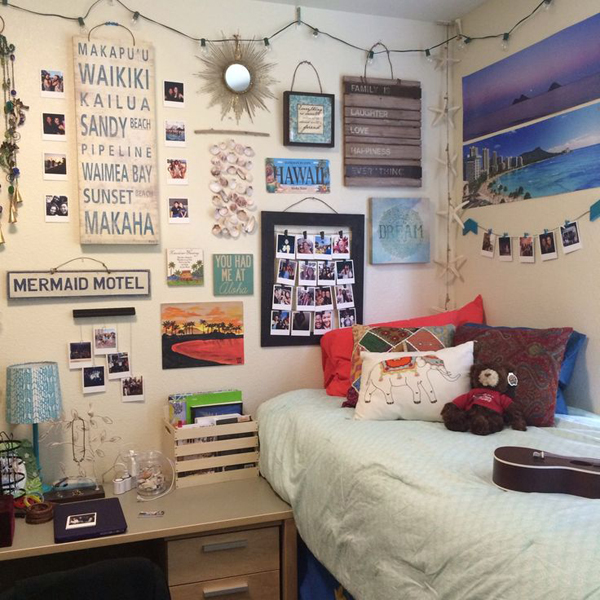 15 Lovely College Dorm Room Designs  House Design And Decor ~ 152346_Dorm Room Ideas Wall