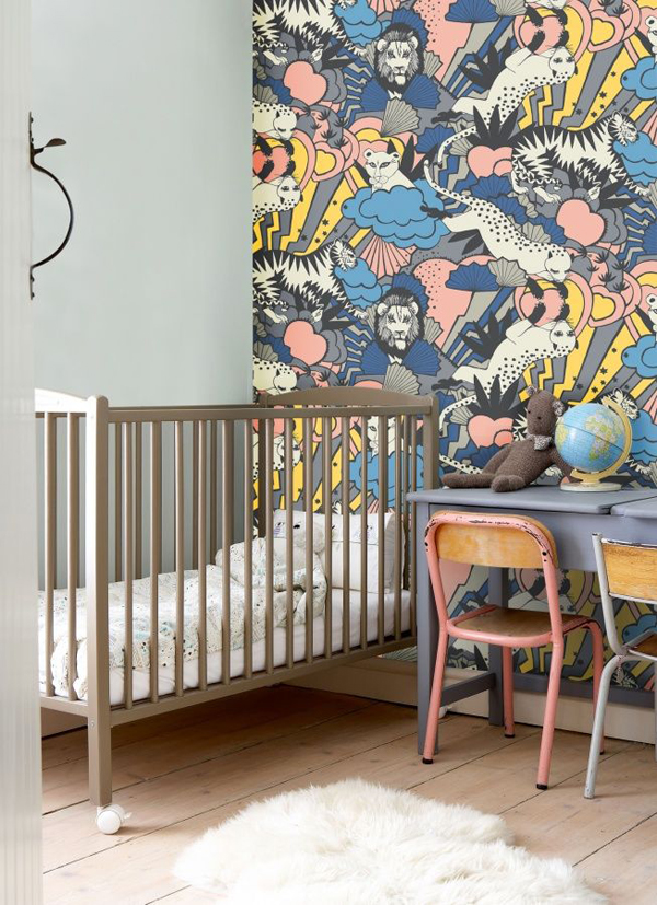 10 cool painted wallpapers for kids rooms house design for Animal wall mural