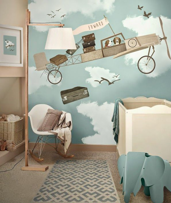 Awesome 10 Cool Painted Wallpapers For Kids Rooms Design Inspirations