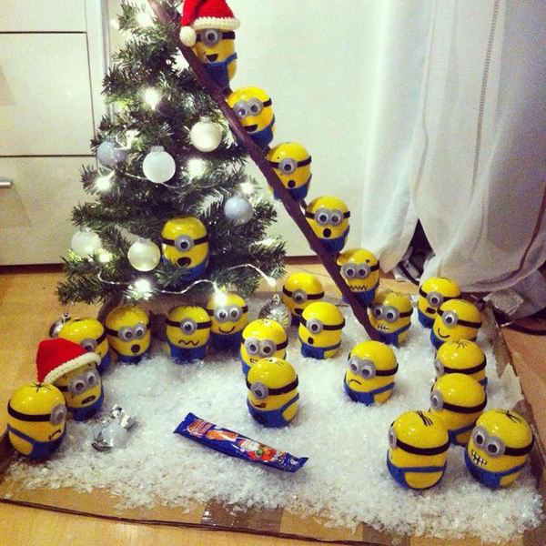 diy minion christmas advent calender