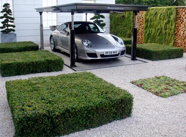Underground garage for safety your garden and cars house for Garden garage designs