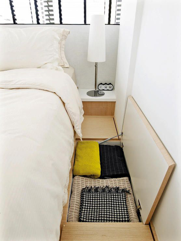 Bedroom Floor Storage For Small Space Solution