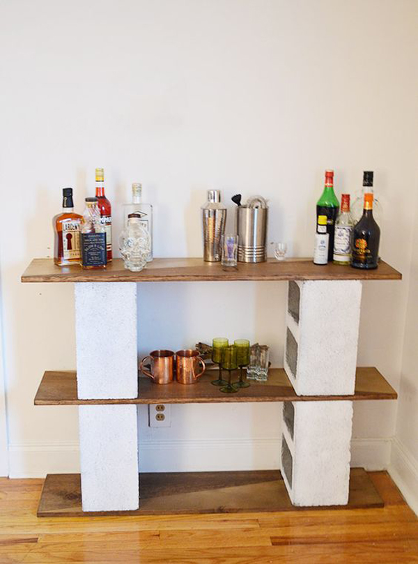 Cheap and creative cinder block furniture house