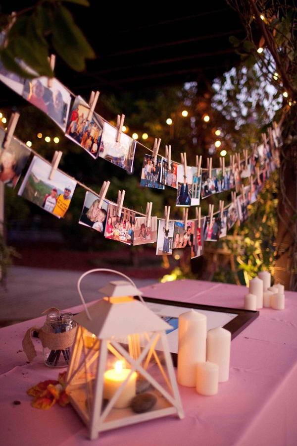 20 Amazing Ideas To Display Wedding Photos