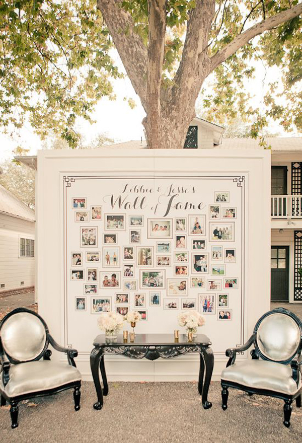 20 amazing ideas to display wedding photos house design for Family display board ideas