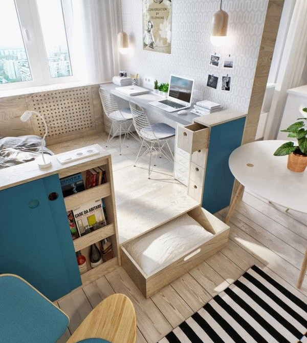 10 Small House Interior Design Solutions: 10 Smart Floor Storage Ideas For Small Space Solutions