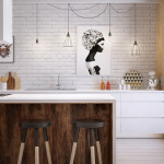 20 Inspiring White Kitchen With Wood Accents
