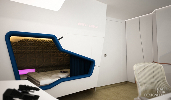 Futuristic Kids Bedroom With Star Wars Theme House