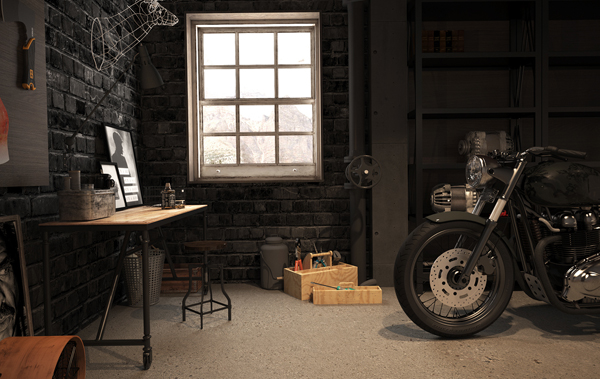 Motorcycle Garage Ideas : Vintage Motorcycle Garage by Mitika Dimov  House Design And Decor
