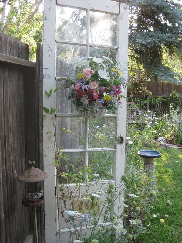 17 shabby chic garden for romantic feel house design and for Outdoor garden doors
