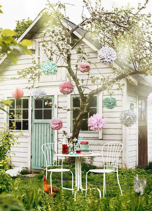 17 shabby chic garden for romantic feel house design and decor - Shabby chic gartenhaus ...