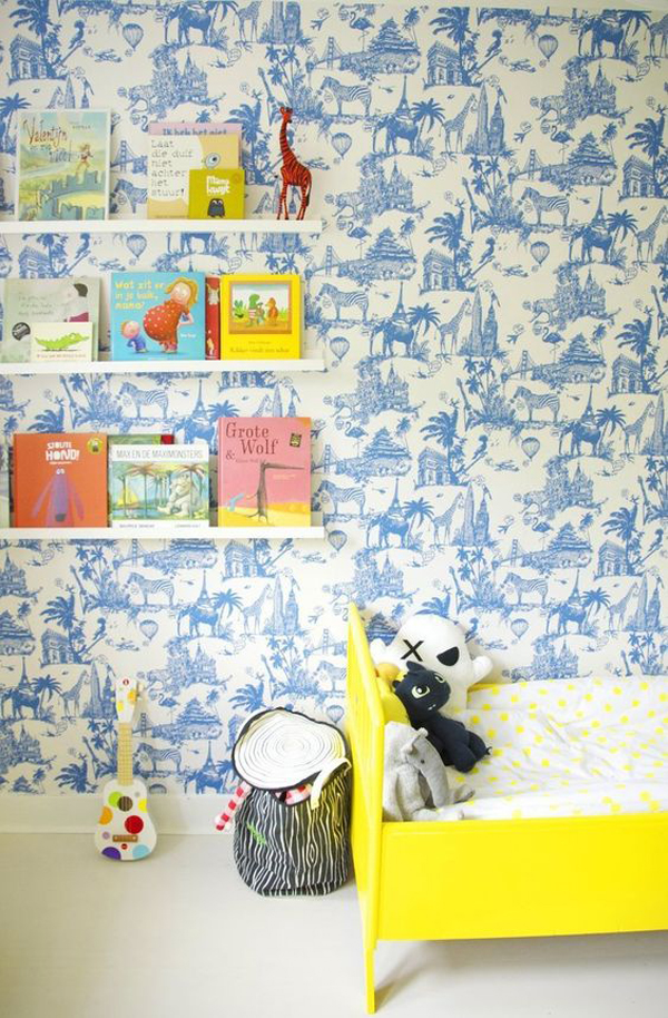15 cool and calming blue kids room designs house design for Kids room wall paper