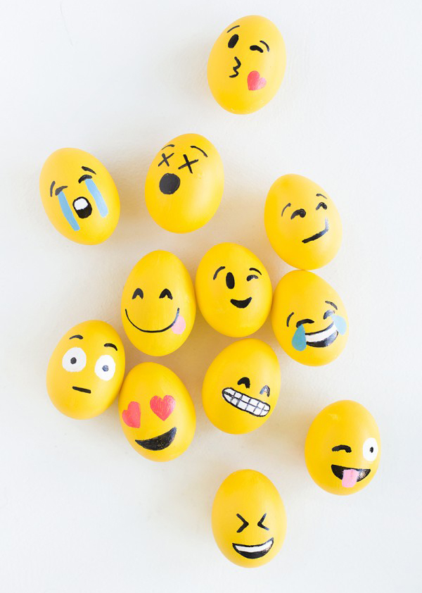 Cute Ways To DIY Emoji Easter Eggs House Design And Decor