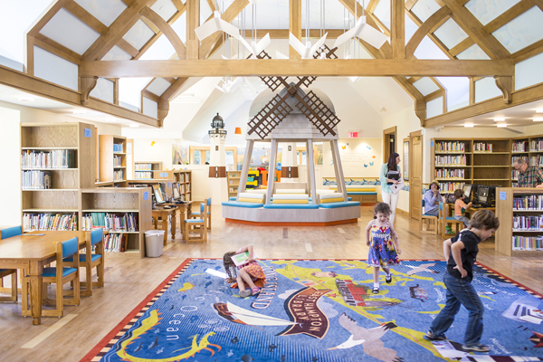 Children's Reading Public Library With Play Areas