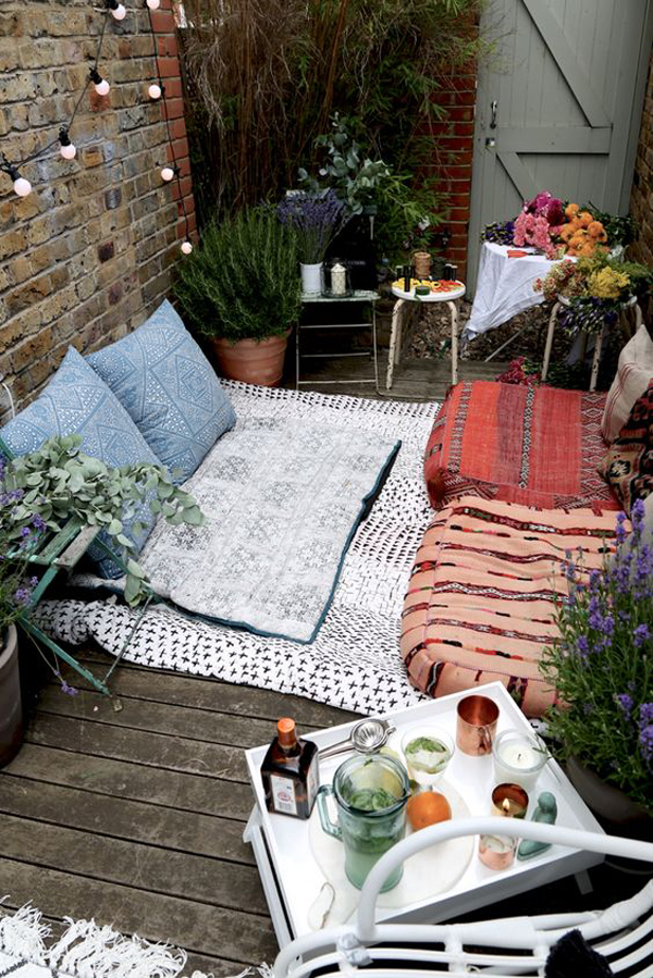 small and cozy bohemian outdoor spaces – home info