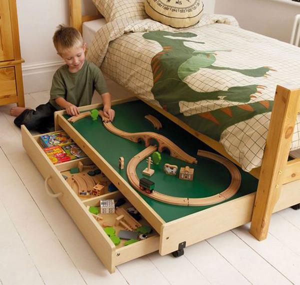 under kids bed toys storage