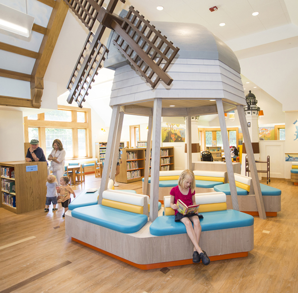 Children 39 s reading public library with play areas house for Reading room interior design