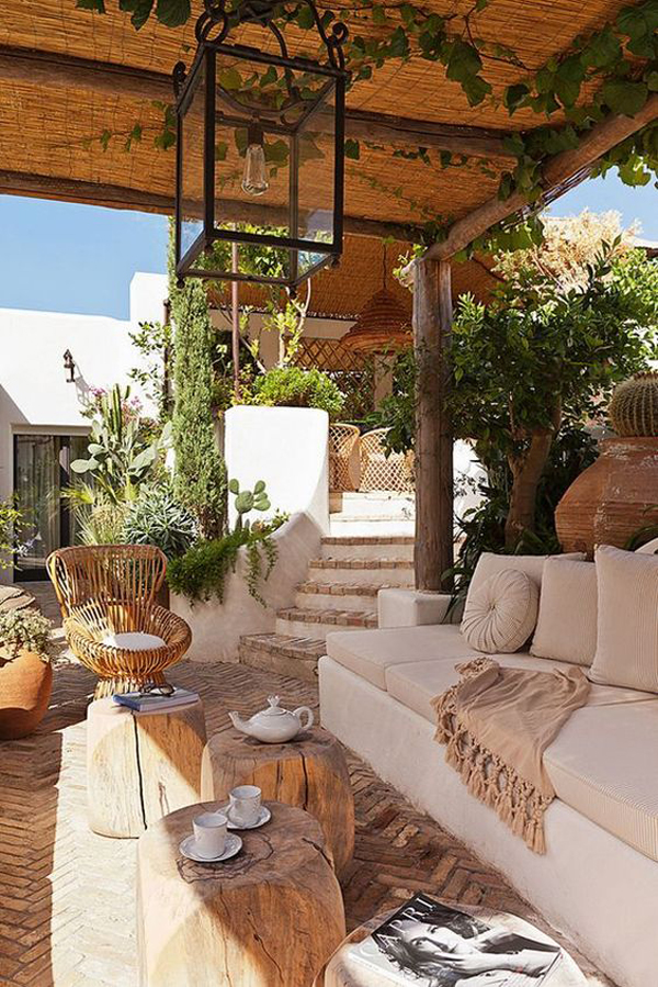 22 artistic mediterranean outdoor living areas house design and decor. Black Bedroom Furniture Sets. Home Design Ideas