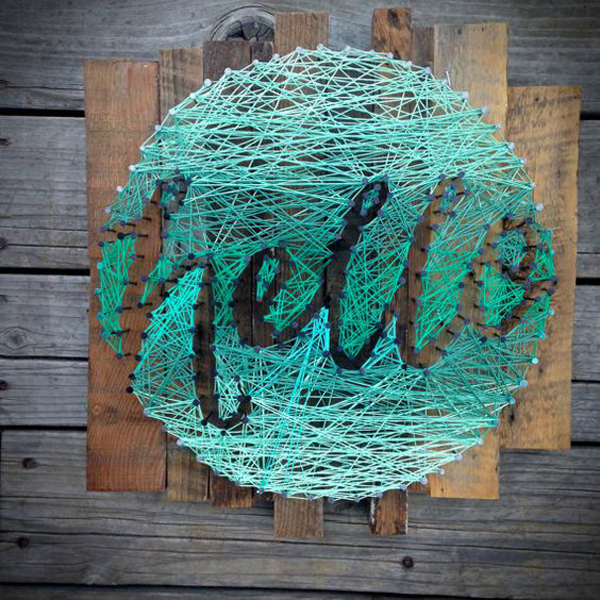 20 Fun DIY Thread And Nails String Art House Design