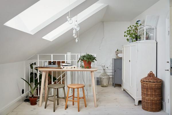 Bright apartments with old charm in swedish house design for Piani di casa con design loft