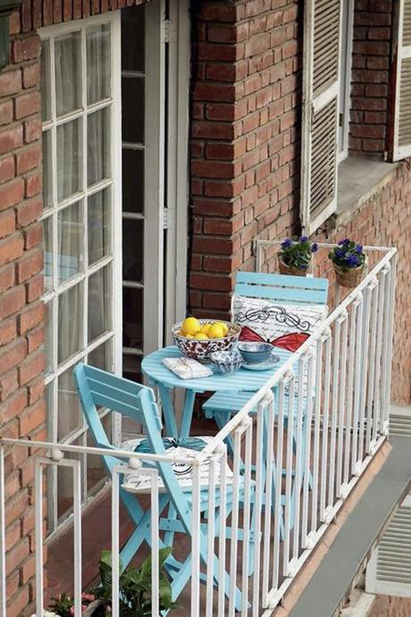 10 beautiful tiny balcony to narrow space ideas house - Small balcony furniture ideas ...