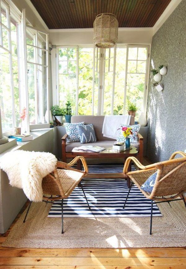 20 amazing sunroom ideas with natural sunlight house for Sun porch ideas
