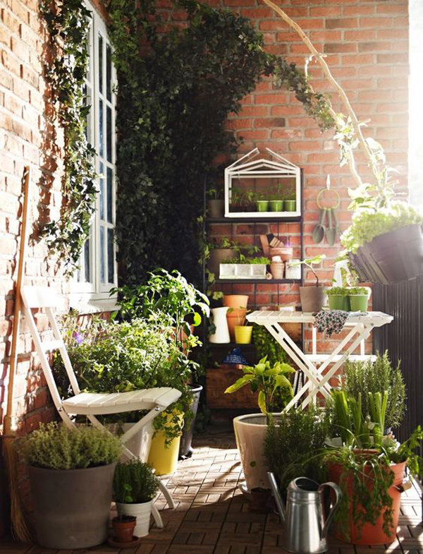 beautiful balcony garden ideas On creative balcony garden ideas