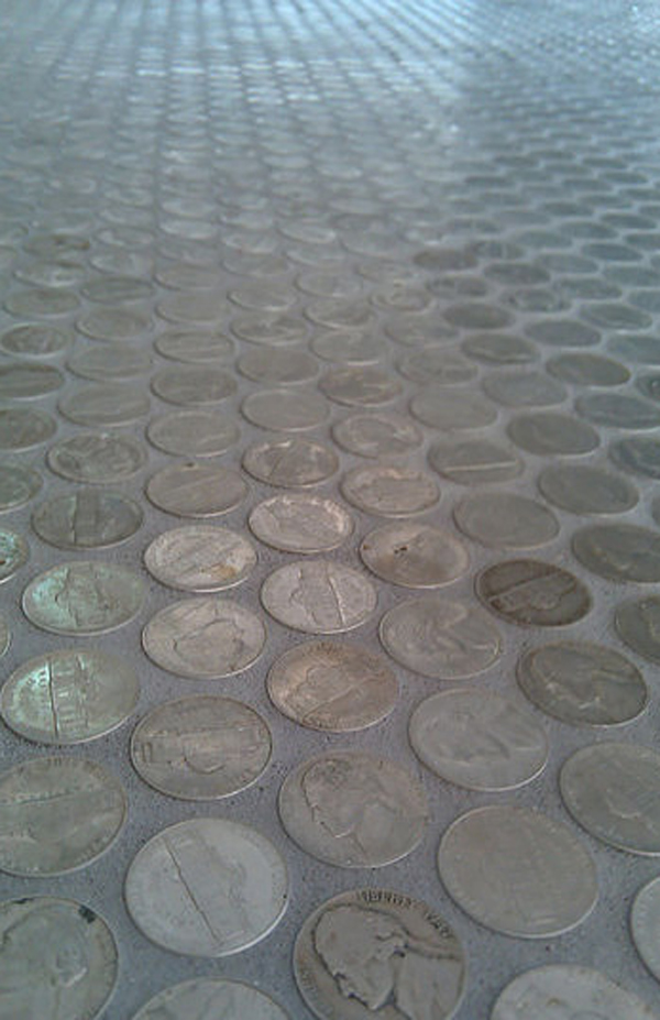 Creative And Patient DIY Penny Floor Projects | House Design And Decor