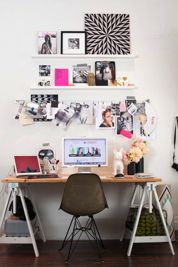 Ikea desk hacks with storage spaces - Desk for small spaces ikea style ...