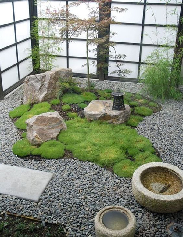 15 mix modern japanese courtyard with nature house for Indoor japanese garden
