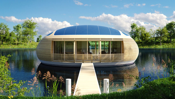 Ecological Floating House by Giancarlo Zema