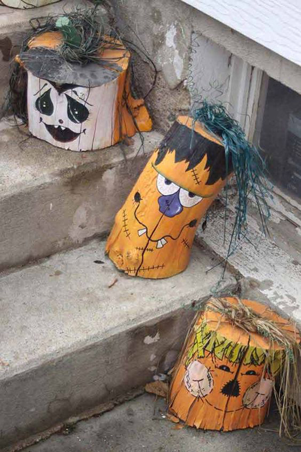 20 Cheap and Creative Halloween Decor from Reclaimed Wood