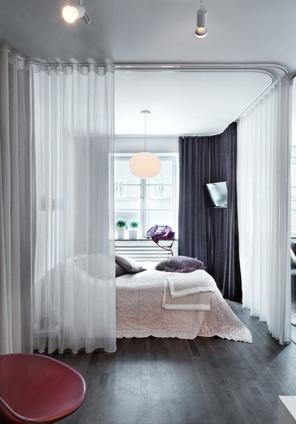 bedroom divider ideas 15 easy and amazing curtains room dividers house design 10407