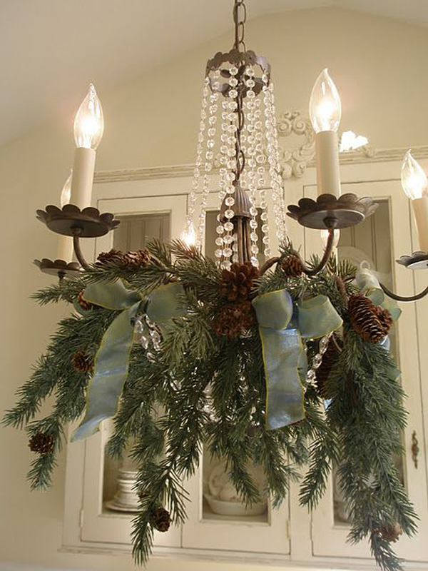 20 Diy Christmas Chandelier With Natural Ideas House