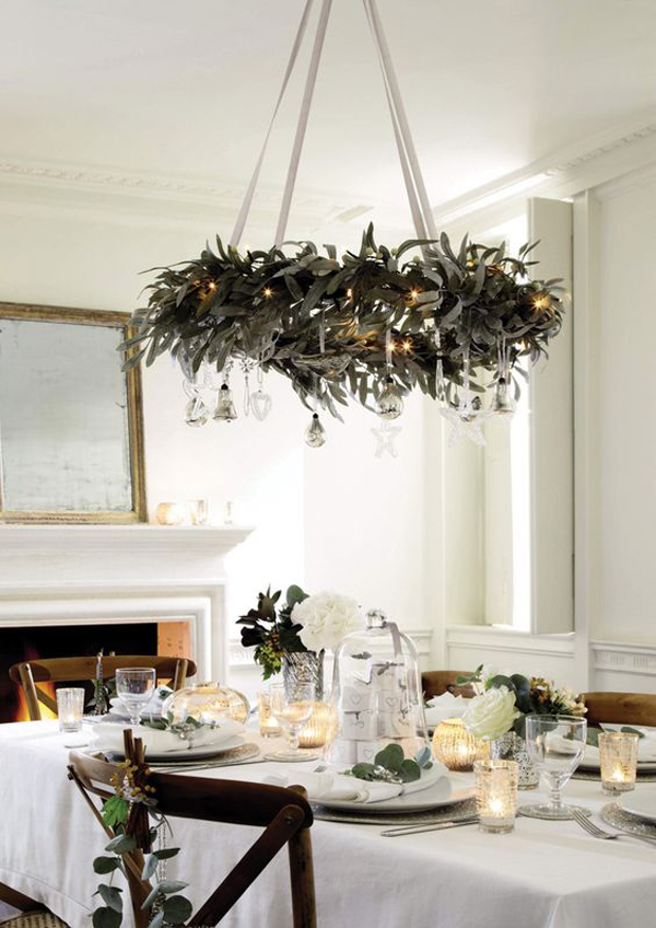 20 diy christmas chandelier with natural ideas house design and decor fresh nature chandelier for dining area aloadofball Gallery