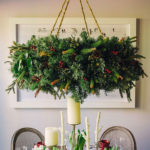 20 DIY Christmas Chandelier With Natural Ideas