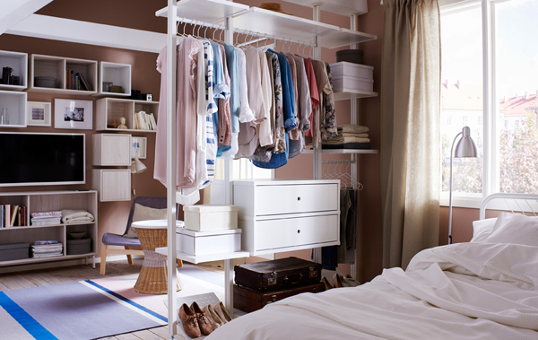 Open Air Wardrobe for Small Spaces | House Design And Decor
