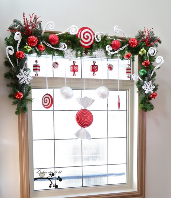 15 christmas window decoration with wreaths and garlands house design and decor - Easy diy decoration ideas for window decor ...